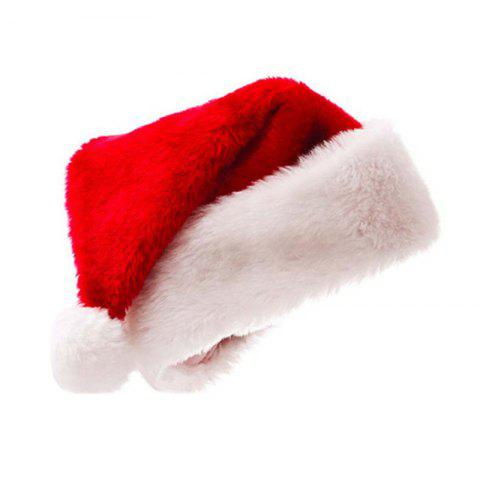 Christmas Thickening Golden Fleecy Cloth Santa Hats hats for Adults and Ch - multicolor