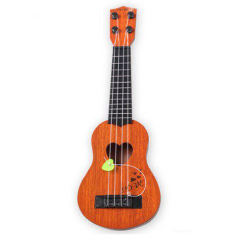 Mini Ukulele Simulation Guitar Kids Musical Instruments Toy - DARK ORANGE 1PC