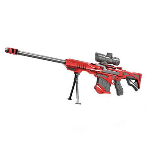 Blaster Gun Kids Toy Elite Air Soft Bullet Plastic Sniper Rifle - RED 1PC
