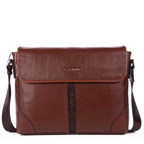 Business Casual Single Shoulder Men'S Bag Men'S Fashion Slant - COFFEE