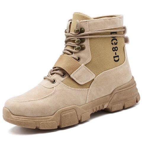 Men Boots Fashion Soft and Comfortable  Breathable Shoes - CAMEL BROWN EU 44