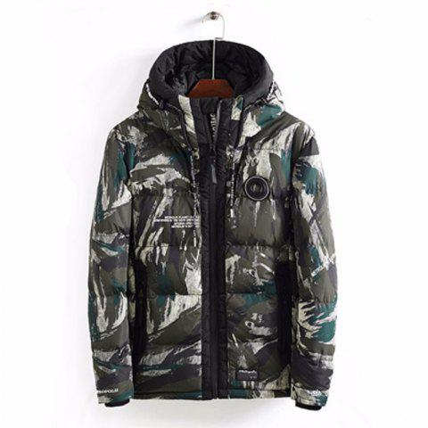 Men'S Winter Warm Coat and Comfortable Sports Jacket - CAMOUFLAGE GREEN 3XL