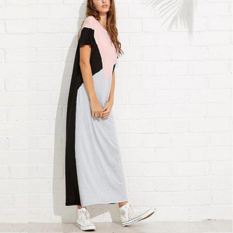 Women'S Loose-Fitting Straight Skirt - PINK L