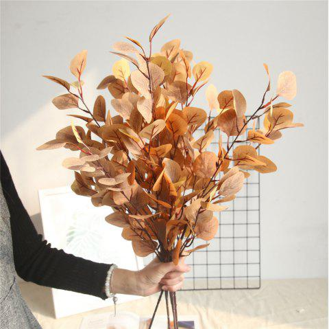 Artificial Eucalyptus Leaves Home Wedding Party Decorations Artificial Flowers - LIGHT BROWN