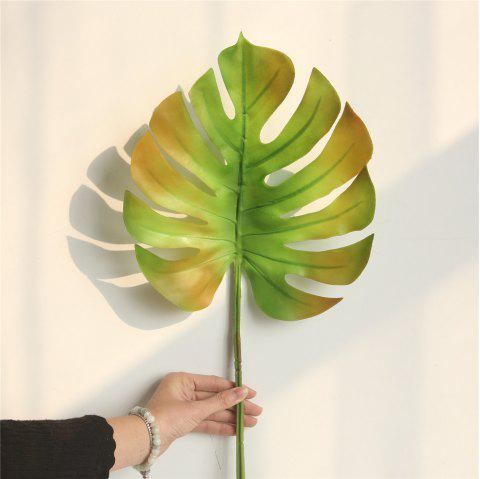 Simulation Monstera Leaves Home Wedding Decorations Artificial Flowers - multicolor C