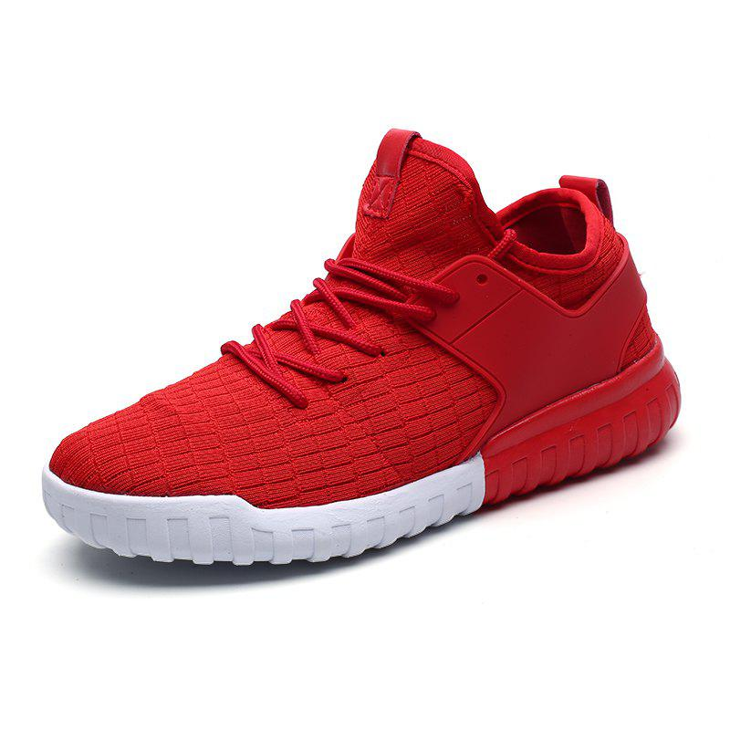 Men'S Breathable Running Shoes - RED EU 36