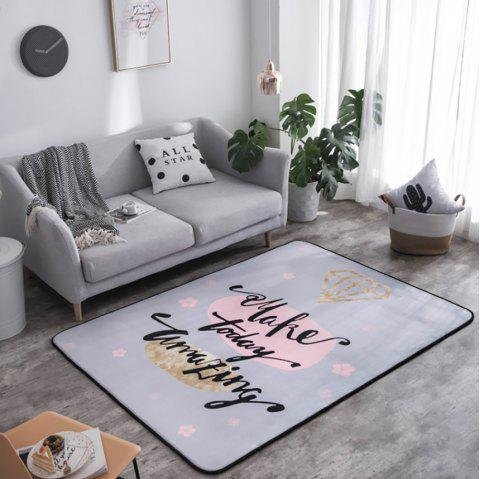 Crystal Plush Floor Mat Crawl Mat Folding Carpet for Bedroom and Dining Room - multicolor A 145 X 195 X 1.5CM