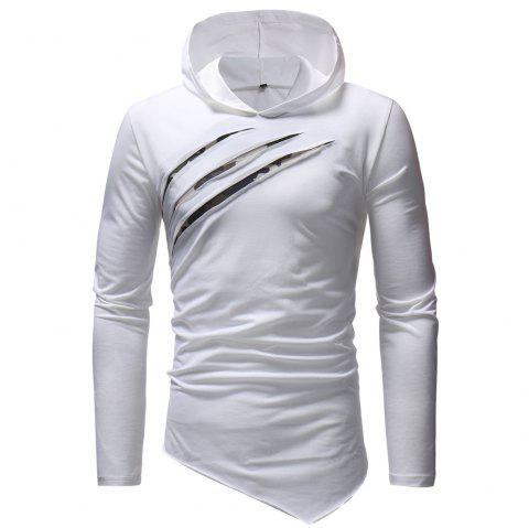 New fashion Men's Leisure  Self-Cultivation  Hat and Long Sleeve T-Shirt - WHITE XL