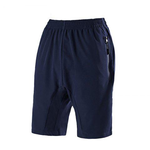 Summer Men'S Quick Dry Breathable Large Size Casual Sports Shorts - DEEP BLUE L