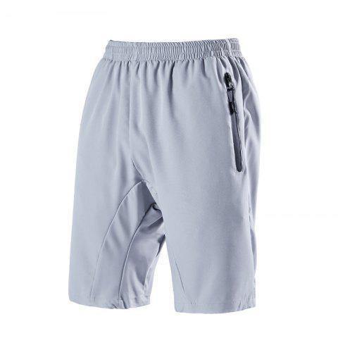 Summer Men'S Quick Dry Breathable Large Size Casual Sports Shorts - LIGHT GRAY M