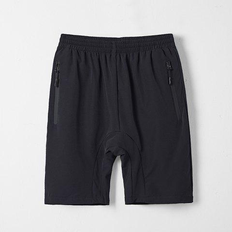 Summer Men'S Quick Dry Breathable Large Size Casual Sports Shorts - BLACK L