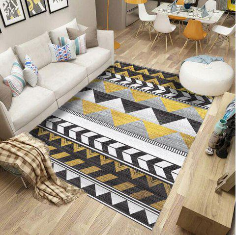 Floor Mat Geometrical Pattern  Color  Block Washable Living Room  Mat - multicolor A 40X60CM