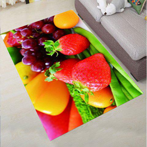 Bedroom Floor Mat Sweet  Lifesome Flowers Pattern Anti-slip Soft Mat - multicolor A 120X160CM