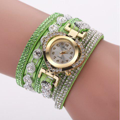 Duoya D259 Montre de diamants avec diamants à la mode - Vert
