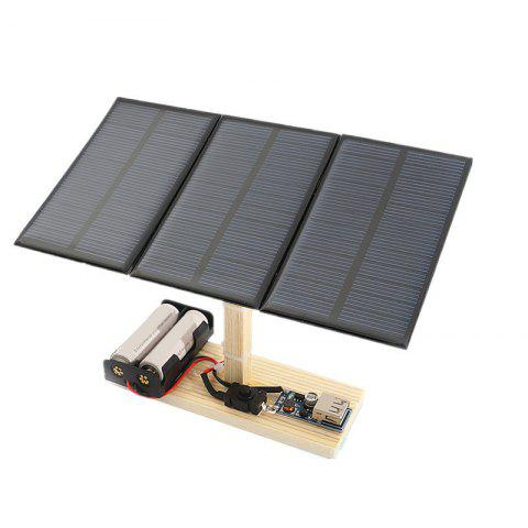 DIY Solar Power Station Children Science Education Toy - multicolor