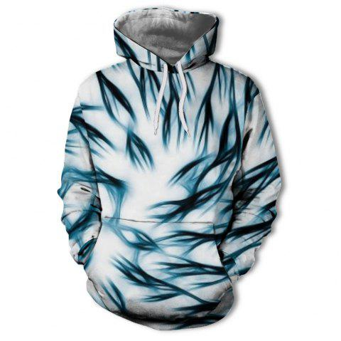 Autumn and Winter Digital Printing Men'S Hot 3D Hoodie - TRANSPARENT 2XL