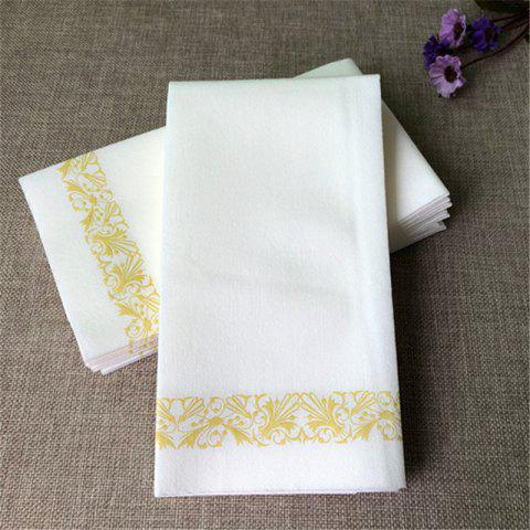 Disposable Hand Towels Decorative Bathroom Napkins Soft and Feel Paper Guest03 - WHITE