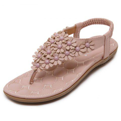 Summer Bohemian Flip-flops Women's Shoes Large Size Sandals - LIGHT PINK EU 41