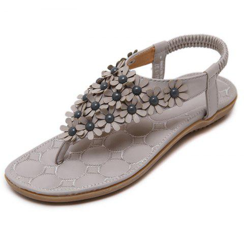 Summer Bohemian Flip-flops Women's Shoes Large Size Sandals - BURLYWOOD EU 37