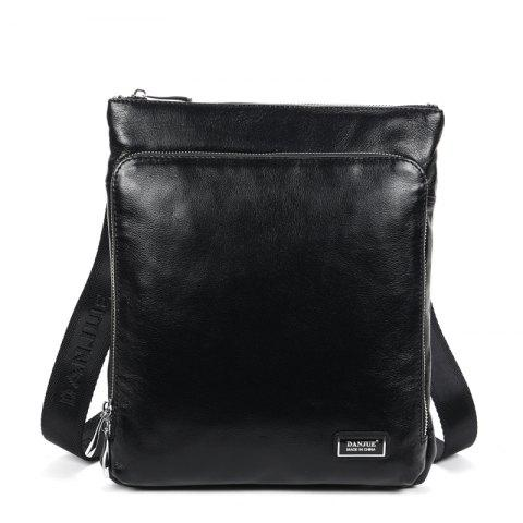 Cowhide Single Shoulder Oblique Bag Leisure Men'S Bag Men'S Fashion - BLACK