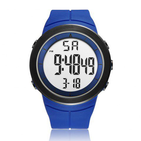Ohsen Multi-Function Dual Display Electronic Waterproof Outdoor LED Watch - BLUE 1PC
