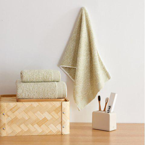 Cotton Towel Set Come with 1 Bath Towel and 2 Hand Towel - FERN GREEN 3PCS