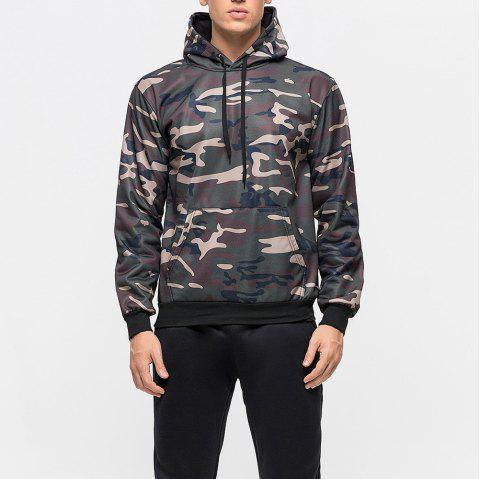 New Fashion Large Size Hooded Sweater Camouflage Sweater Men'S Shirt - ACU CAMOUFLAGE M