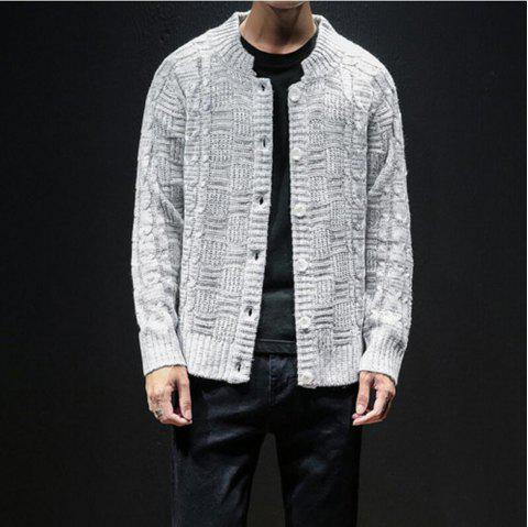 Autumn Winter O-neck Men's Fashion Sweatershirt Trends Casual Sweater - COOL WHITE L
