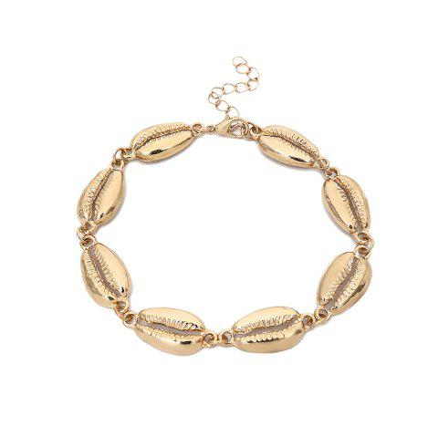 Simple Personality Alloy Shell Single Layer Anklet - GOLD 1PC
