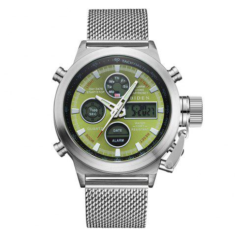 Outdoor Sports Military Watch Quartz Double Movement Watch - multicolor F 1PC