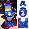 Toilet Seat Cover Mat Holder Foot Pad Cover Christmas Home Living Decor - multicolor B