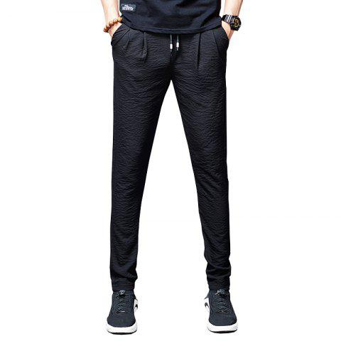 Men'S Summer Fashion Loose Sweatpants Trend Casual Pants Cool Trousers838 - NATURAL BLACK 34