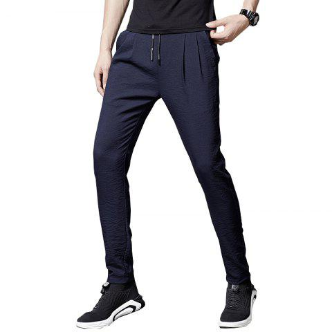 Men'S Summer Fashion Loose Sweatpants Trend Casual Pants Cool Trousers838 - CADETBLUE 34