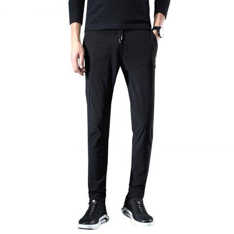 Men'S Fashion Stretch Casual Pants Work Party Pants 813 - BLACK 4XL