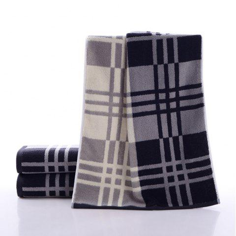 Cotton Dark Plaid Towel Thick Absorbent and Lint-Free - DARK SLATE BLUE 1PC