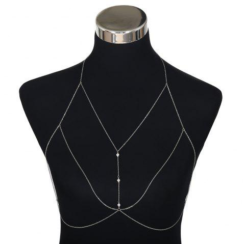 Simple Diamond Body Chain - SILVER 1PC
