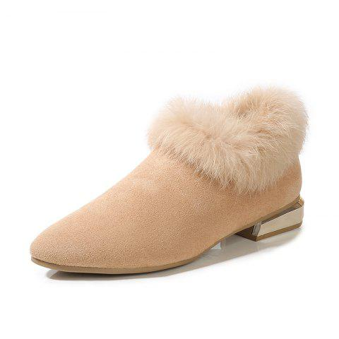Winter Fur Shoes And Boots - WARM WHITE EU 35