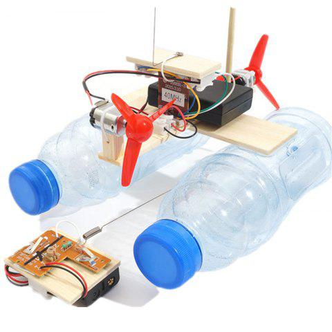 DIY Wireless Remote Control Wind Ship Children Science Education Toy - multicolor
