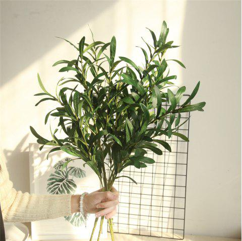 Vivid Artificial Olive Leaves Home Wedding Party Decorations - SHAMROCK GREEN