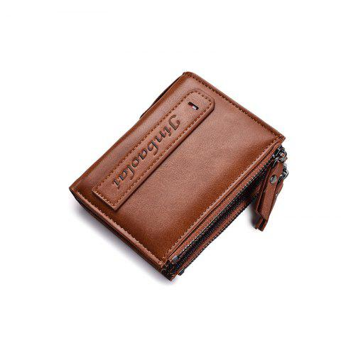 Fashion Business Casual Men'S Vertical Multi-Function Large Wallet - BROWN