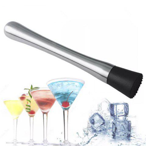 Ice Crusher Stick Diy Drink Fruit Puree Stainless Steel Crushed Ice Wine - SILVER