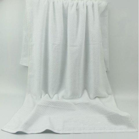 Cotton Thick Solid Color Bath Towel Adult Bath Towel - WHITE 1PC