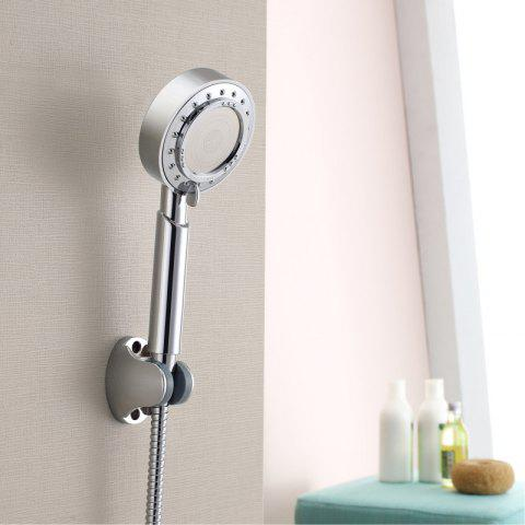 Hand Held Pressure Shower Three-Function with 1.5m Hose and Base Set Three Remov - SILVER