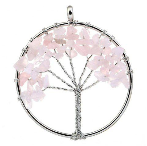 Natural Stone Ornaments 5CM Life Tree Pendant - multicolor E