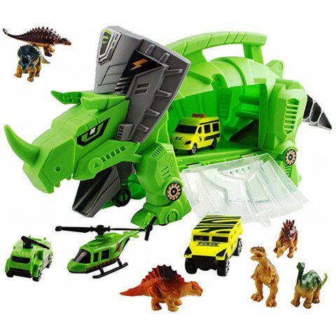 Perfect Dinosaur Storage Carrier for Your Dinosaurs and Cars - ALGAE GREEN