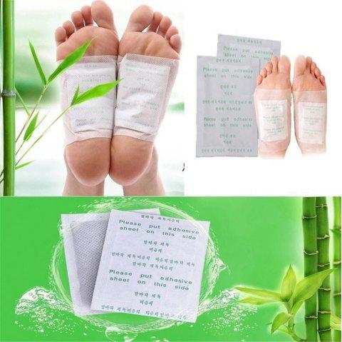 6PCS Slim Foot Stickers for Detoxification and Weight Reduction - WHITE