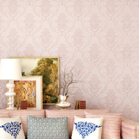 Floral 3D Non-woven Paper Material Self Adhesive Wallpaper - LIGHT PINK 300X53CM