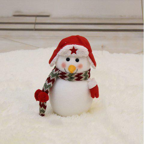 The Snowman Doll Is Stuffed with Christmas Decoration - multicolor C 35*20CM