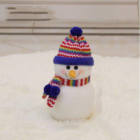 The Snowman Doll Is Stuffed with Christmas Decoration - multicolor B 35*20CM