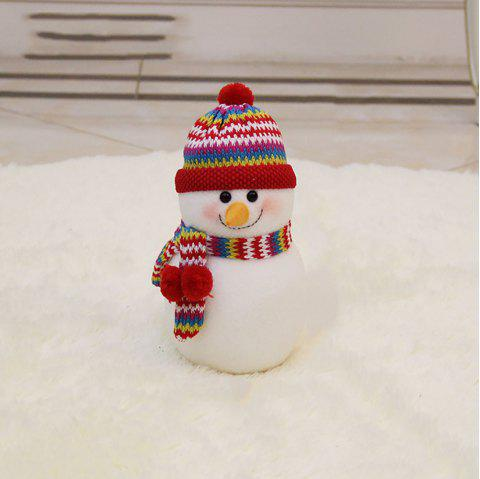 The Snowman Doll Is Stuffed with Christmas Decoration - multicolor A 35*20CM